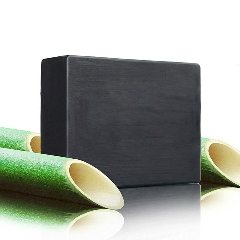 Whitening skin Antibacterial sterilization Promote blood circulation Handmade Herbal Bamboo charcoal soap