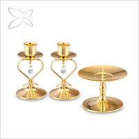 Imperial Sanctity Gold Plated Crystal Candle Holder