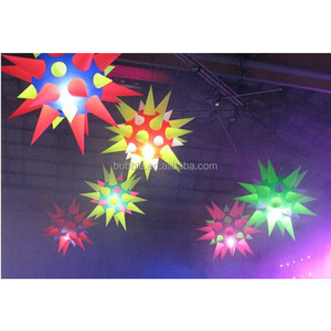 Giant inflatable star balloons with LED lights, high quality lighting ballons