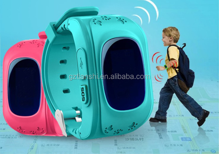 High quality 2G 3G calling with running wrist watch q50 kids gps watch tracking device for kids