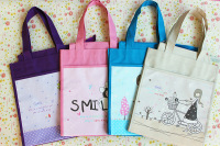 Waterproof Oxford cloth shopping bag girl student tuition cute canvas bags manufacturing factory