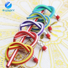 Wholesale Multi colored soft pencil flexible pencil for promotion gift