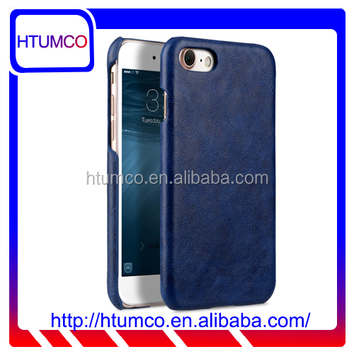 "New Mini Smooth Snap Cover Blue PU Leather Case for Apple iPhone 7 (4.7"")"