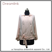 Latest Spring Garments Pink Stylish Women Trench Coat