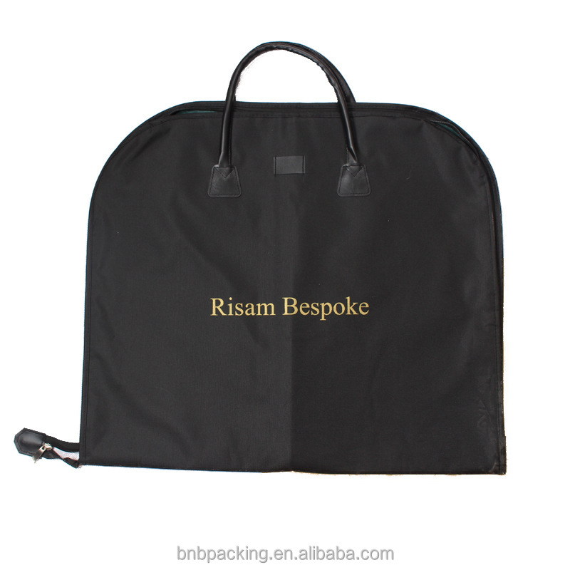 Customized Suit Dust Bag Non Woven Fabric Travelling Garment Carrying Bag Cheap Price