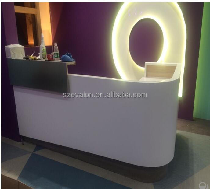 Modern L Shaped Solid Surface Executive Office Furniture Office Desk,s,acrylic solid surface Hotel reception desk
