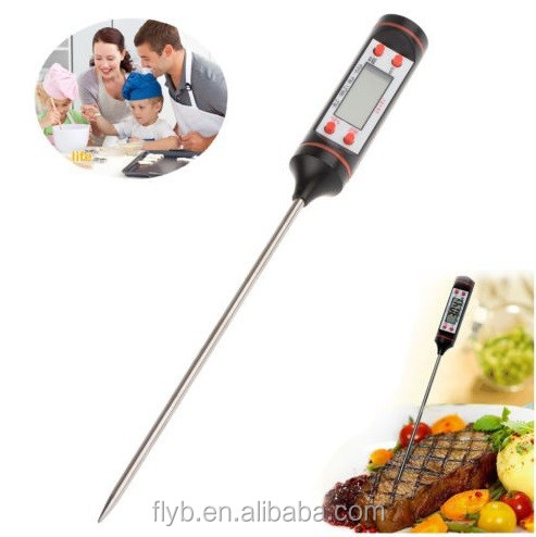 lcd instant read DIGITAL kicthen meat cooking thermometer for food bbq digital thermometer to 100 degree