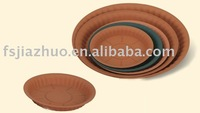 saucer for flowerpot is also named flower pot dish which is made by virgin PP and it is factory garden planter wholesale