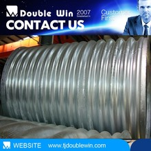 galvanized corrugated steel pipe culvert galvanized pipe / steel tube competive price high-low