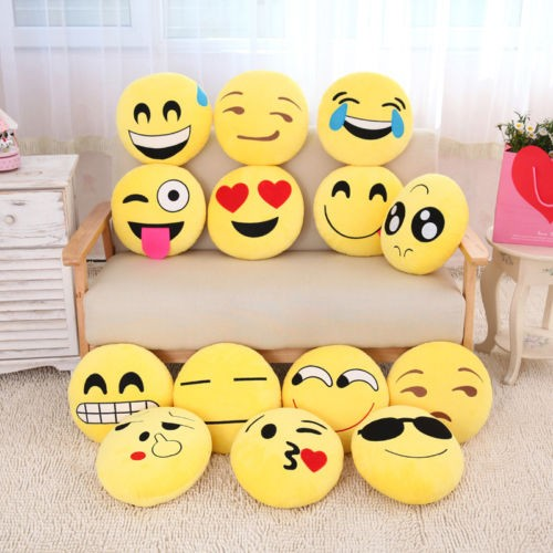 Custom Made pp cotton emoji pillow plush toy For hot Sale