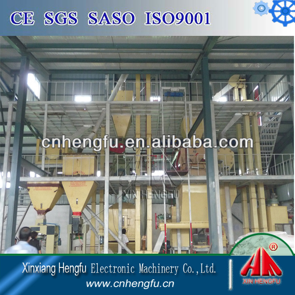 SZLH350 Farm Corn Soybean Rice Wheat Pig Chicken Cow Feed Processing Equipment 3-6T Cattle Feed Manufacting Plant