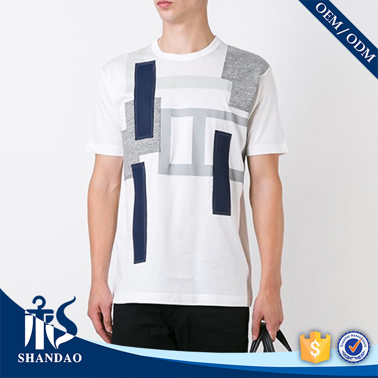 Guangzhou shandao factory o-neck short sleeve180g 65%polyester 35%cotton mens fashionable bangkok clothes