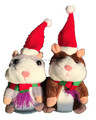 Plush Christmas Repeat Talking Hamster Toy