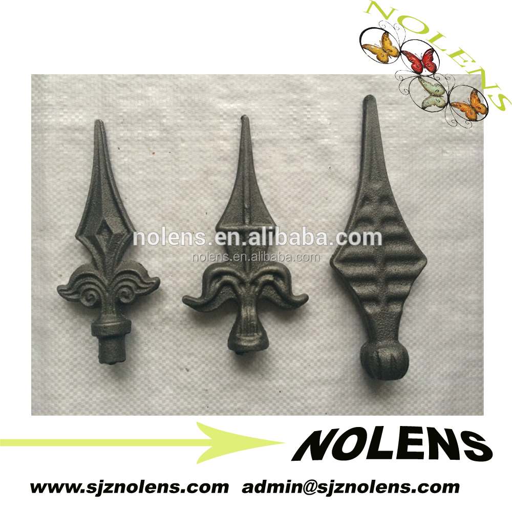 WROUGHT IRON RAILHEADS CAST IRON RAILHEADS