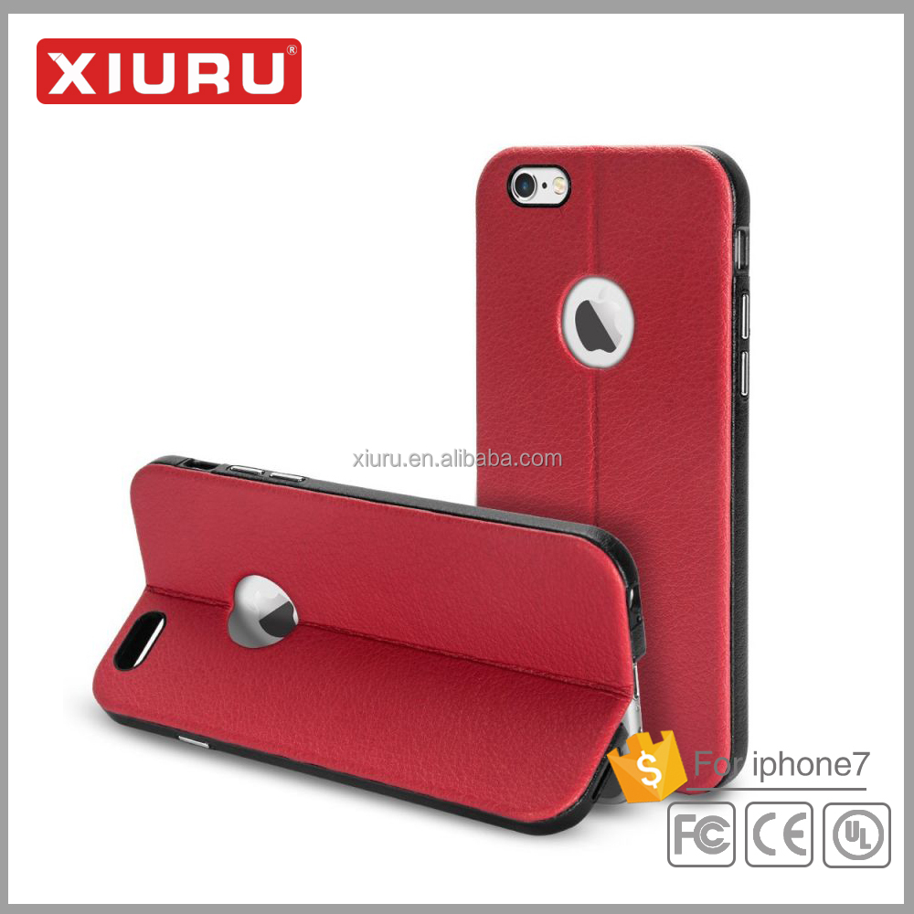 Leather mobile phone case cover with stand smart phone case for Iphone 6