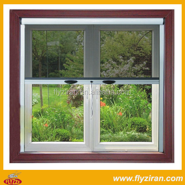 Retractable Screen Window With PVC Material Frame