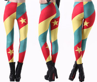 Moshiner Polyester Women Clothing Fashion Cameroon Flag Custom Design Printing Yoga Fitness Leggings