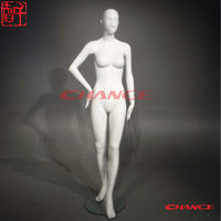 Fashion store window display female full body Abstract face fiberglass Mannequin