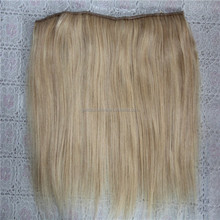 On Sale Straight Grade 8A No Clips Halo Hair Extensions, Flip in Hair Brazilian Remy, 100g/pc Easy Fish Line Hair Weaving