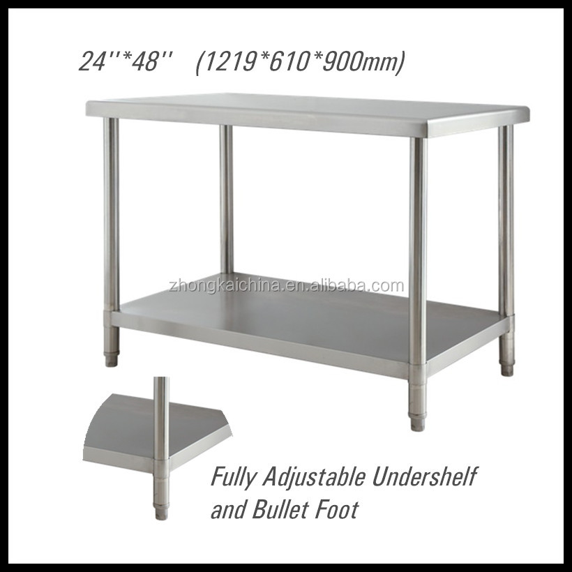 48*24 inch New <strong>Stainless</strong> Steel Kitchen Work Bench Food Prep Catering Table
