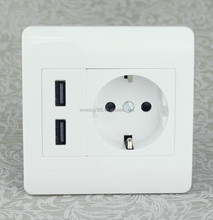 2014 New arrival factory sales usb power outlet wall socket