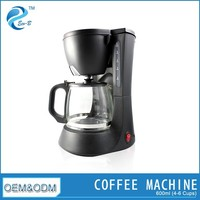 (GS/CE/EMC/RoHS) Efficient Portable Plastic 4 Cup Coffee Maker