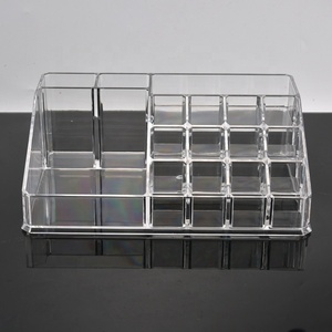 Professional Wholesale Custom Beauty Plastic Storage Box Clear Make up Organizer Cosmetic Makeup Tray Cosmetic Organizer