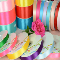 Hot sale cheap 1/8 inch 1/4 inch 3/8 inch satin ribbon