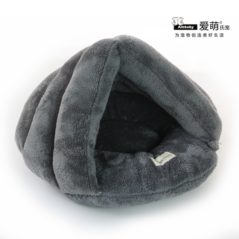 High quality plush dog sleeping bag pet beds supplier