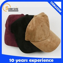 Sunny shine new style product high quality New Fashion Custom 6 Plane Suede Baseball Cap Wholesale