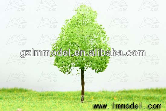 3D architectural mini tree model/ho,n,z,oo scale