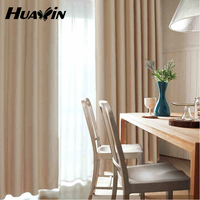 2015 fashion plain blackout fabric for window curtain in 100% polyester