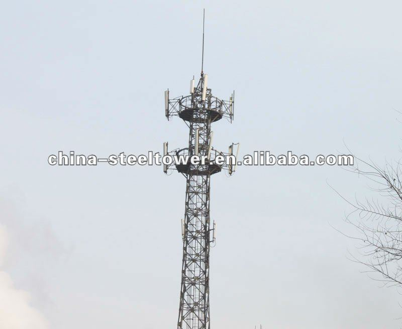 Telecommunication Steel Tower Tubular Tower/Self Supporting Steel Tower