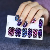 Nail Art Wraps Full Self Adhesive Polish Tips Decals Stickers Decorate