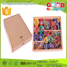 GABE 9 wooden circle toys froebel gifts preschool gabe educational toy for child