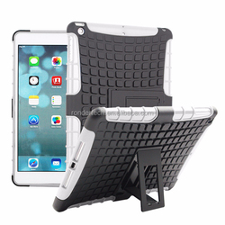 For iPad 6 5 4 pc+silicon stand tablet case, for iPad Air 2 mini 123 hybrid stand case