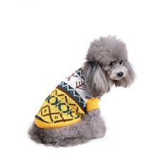 Dog Christmas Holiday Showy Lemon Yellow Clothes Knit Warm Sweater for Dogs Cats
