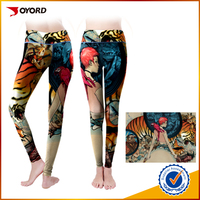Sublimation high quality fitness yoga pants fabric