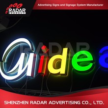 Fashionable different style backlit acrylic alphabet letters for Advertising Light Boxes