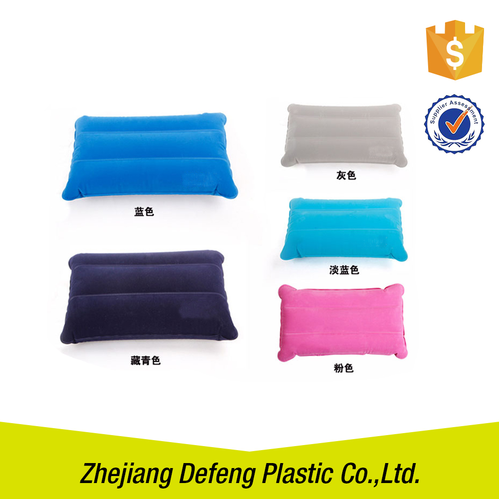 Professional Self Inflating Customized Color Air Neck Pillow