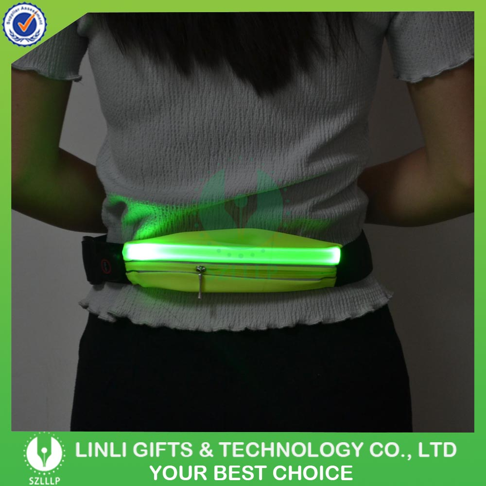 Adjustable Neoprene Material Led Waist Pouch For Sale