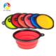 Food Grade Silicone BPA Free Foldable Expandable Cup Collapsible Dog Bowl