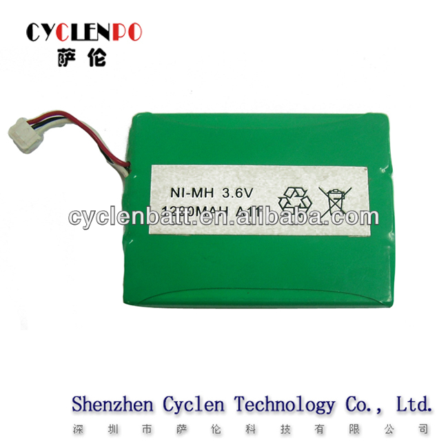 3.6V battery pack NImh 1200mah or aaa rechargeable battery for airsoftgun