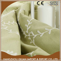 New model hot selling embroidery cotton cheap drapery fabric