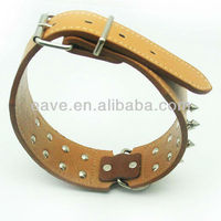 Wholesale Spot Pet Dog Leather Collar for Big Animals Drop Shipping Retail Pet Products Factory Wholesale C2006