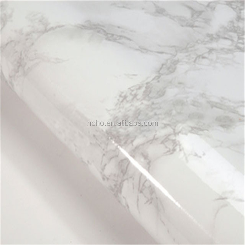 white marble look easy install thickness peel sticker stone wall mosaic tiles