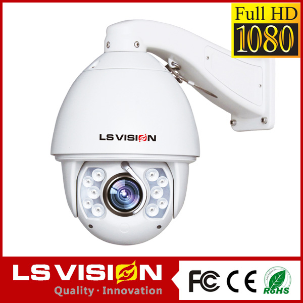 LS VISION internet protocol camera intelligent ir high speed dome camera infrared outdoor cctv camera