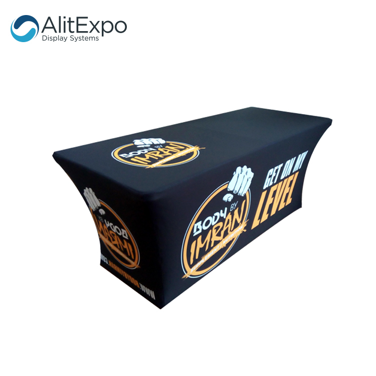 Factory cheap price table cover / Advertise custom printed Many colors fitted tablecloth