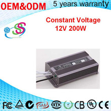 Power Supply 200W 220v to 12v led driver circuit constant voltage IP67 waterproof electronic led driver for street light