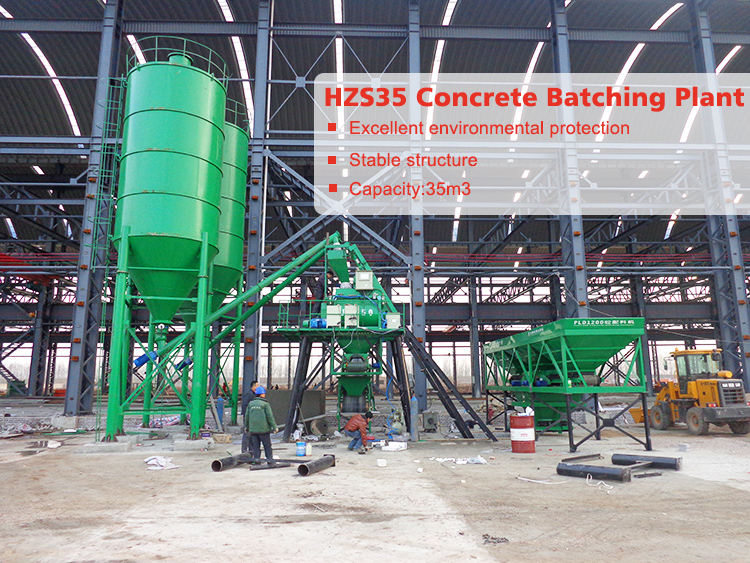 Attractive design construction equipment concrete mixing batching plant in dubai